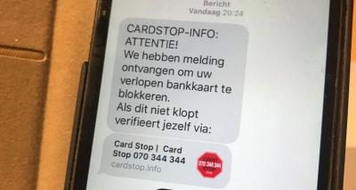 Opgelet! Valse Card-Stop sms'jes in omloop