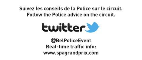 Follow the Police advice on the circuit.