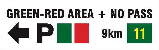 Green red area