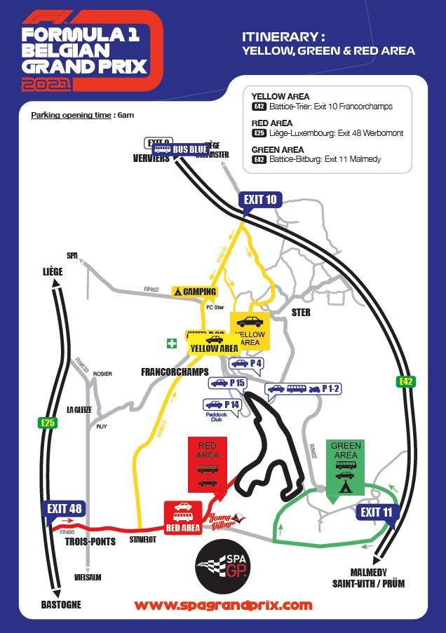 Plan 2021 - Formula 1 Belgian Grand Prix
