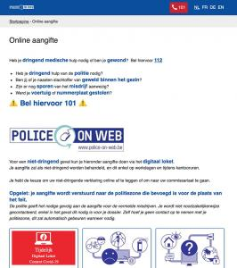 Police on Web